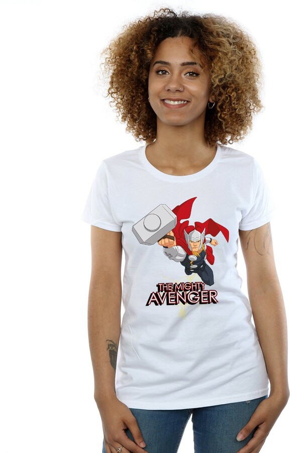 Thumbnail for your product : Marvel Women's Thor The Mighty Avenger T-Shirt XX-Large White