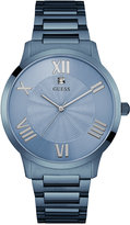 GUESS Men's Blue Ion-Plated Stainless Steel Bracelet Watch 43mm U0694G2