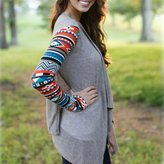 MEXUD-long Cardigan Outwear Jacket Coat Sweater with Fashion Long Sleeve Knitwear for Women (, S)