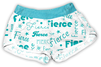 Urban Smalls Girls' Casual Shorts Multi/Turquoise - White & Turquoise 'Fierce' Shorts - Toddler & Girls