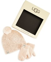 UGG Girls' Hat & Mittens Boxed Set - Sizes 2/4 & 4/6