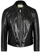 Schott NYC 689 Racer Black Leather Jacket