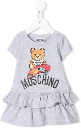 MOSCHINO BAMBINO Logo Bear Print Dress