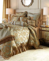Sweet Dreams Palazzo Como Queen Scalloped Damask Duvet Cover