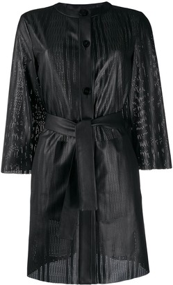 Drome Leather Perforated Coat
