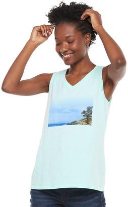 Sonoma Goods For Life Women's V-neck Girlfriend Tank