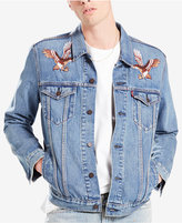 Levi's Limited Men's Embroidered Trucker Jacket, Created for Macy's