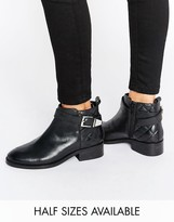 Asos ABEL Leather Buckle Ankle Boots
