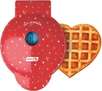 Dash DMWH100HP Machine for Individual, Paninis, Hash Browns, other Mini waffle maker, 4 inch, Red love heart