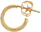 Afin Atelier Small Single Hoop Earring With Diamonds