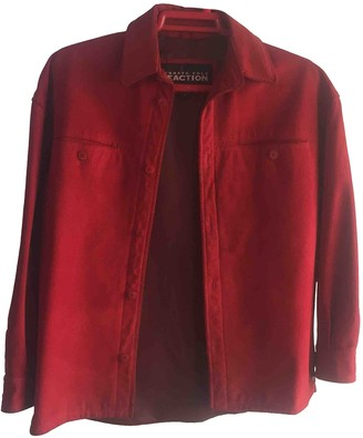 Kenneth Cole Red Fur Jacket for Women
