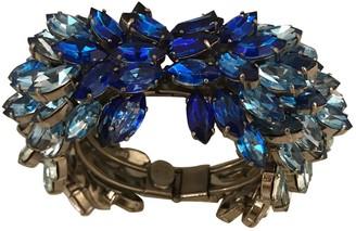 Alexander McQueen Blue Crystal Bracelets