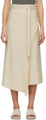 LAUREN MANOOGIAN Off-White Horizontal Sarong Skirt