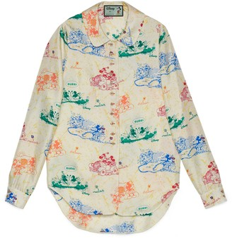 Gucci Disney x silk shirt
