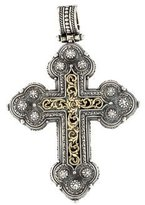 Konstantino Two Tone Cross Pendant