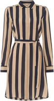 Marella Moto striped silk shirt dress