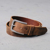 DSTLD Mens Standard Leather Belt in Vintage Brown