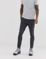 Asos Design DESIGN super skinny ankle grazer chinos in washed black