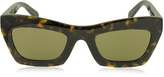 Celine EVA CL 41399/S O86X7 Havana Acetate Cat Eye Women's Sunglasses