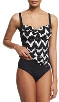 LaBlanca La Blanca High-Waisted Tummy Toner Swim Bottom, Plus Size