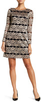 Eliza J Long Sleeve Lace Knit Dress (Petite)