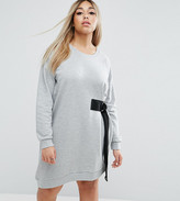 Asos Mini Sweat Dress With D-Ring Tie
