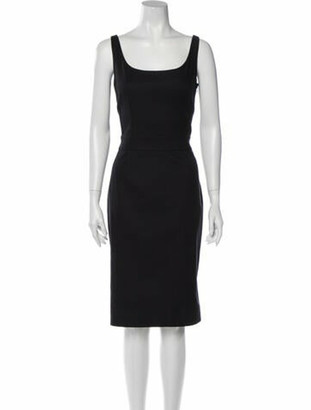 Dolce & Gabbana Scoop Neck Knee-Length Dress Black