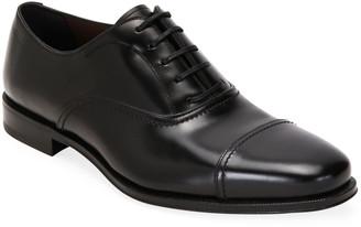 Salvatore Ferragamo Men's Seul Leather Oxford Shoes