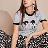 River Island Womens Light blue Holly Fulton double print T-shirt