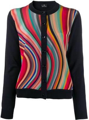 Paul Smith Satin-Panel Cardigan