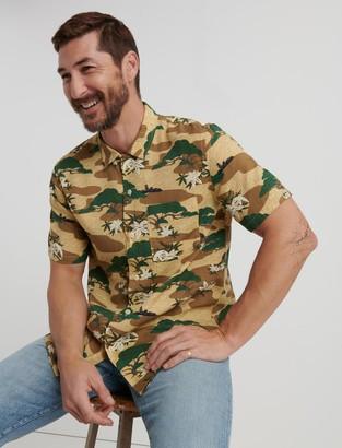 Lucky Brand Fiji Tencel Club Collar Shirt