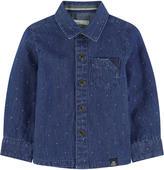 Jean Bourget Stone-washed blue chambray shirt