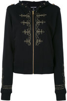Just Cavalli zipped hooded jacket - women - Cotton/Polyester - 38