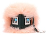 Fendi Bag Bugs Leather Charm With Fur
