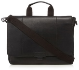 J By Jasper Conran Black Leather Despatch Bag