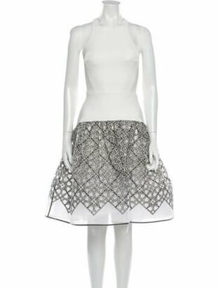 Maticevski Crew Neck Knee-Length Dress w/ Tags White