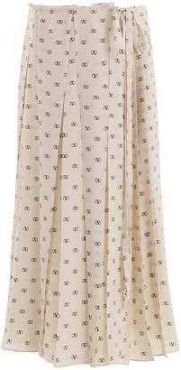 Valentino Mini V Logo Skirt