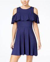 Be Bop Juniors' Cold-Shoulder A-Line Dress