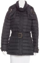 Burberry Belted Puffer Coat