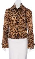 Dolce & Gabbana Satin Cheetah Print Jacket