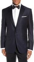 David Donahue Men's Big & Tall 'Reed' Classic Fit Wool Dinner Jacket