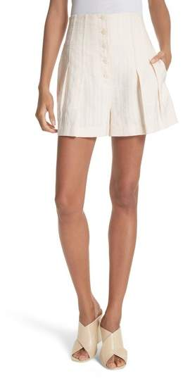 Rebecca Taylor Textured Stripe Shorts