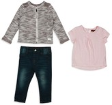 7 For All Mankind Infant Girls' Jacket, Tee & Skinny Jeans Set - Sizes 12-24 Months