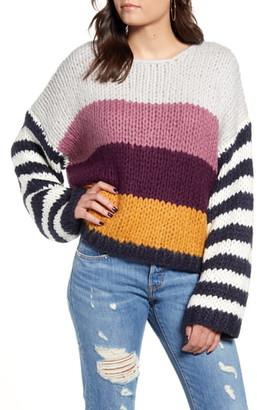 Blank NYC Stripe Oversize Sweater