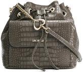 Love Moschino drawstring bucket shoulder bag - women - Polyurethane - One Size