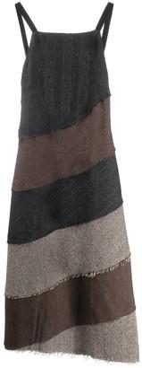 ASAI Patchwork Asymmetric Hem Dress