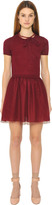 RED Valentino Wool Knit & Tulle Dress