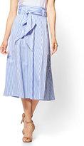 New York & Co. 7th Avenue - Paperbag-Waist Full Skirt - Stripe