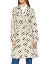 Lost Ink Women's Trench with Flocked SPOT Print Coat