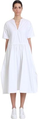 Jil Sander Marabella Af Dress In White Cotton